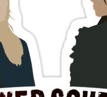 Clexa - Power couple. Sticker