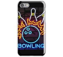 Neon Sign - Bowling iPhone Case/Skin