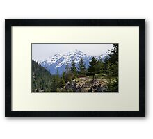 North Cascade Mountain Range, Washington State, USA Framed Print