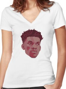 Jimmy Butler Women's Fitted V-Neck T-Shirt