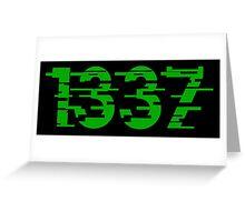 1337 Greeting Card