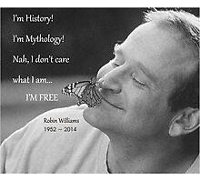 Robin Williams, quote from Aladdin Photographic Print