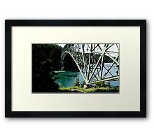 Deception Pass Bridge, Washington State, USA Framed Print