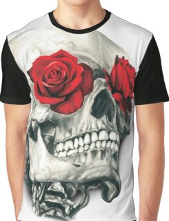 Rose Eye Skull Graphic T-Shirt