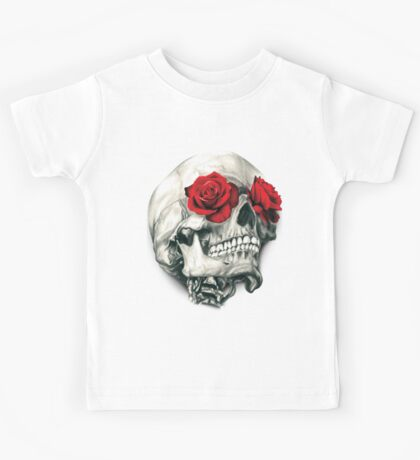 Rose Eye Skull Kids Tee