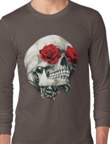 Rose Eye Skull Long Sleeve T-Shirt