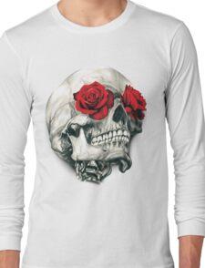 Rose Eye Skull Long Sleeve T-Shirt