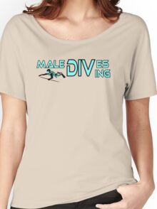 Maledives diving, colours cyan and black Women's Relaxed Fit T-Shirt
