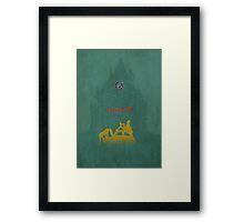 Ghibli Minimalist 'The Castle of Cagliostro' (Lupin III) Framed Print