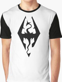Skyrim Logo Black Graphic T-Shirt