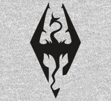 Skyrim Logo Black Kids Tee