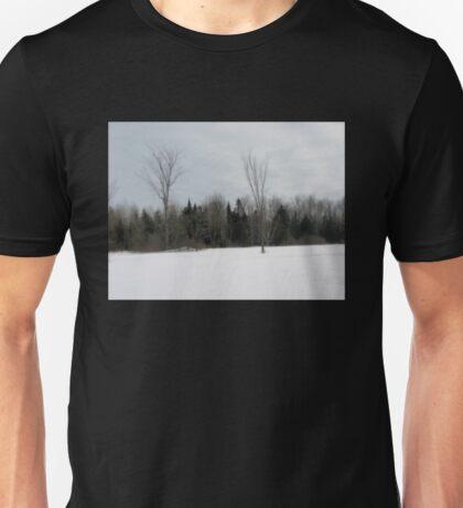 Winter Field Landscape Unisex T-Shirt