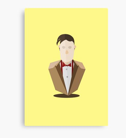 Eleventh Doctor - Yellow Canvas Print
