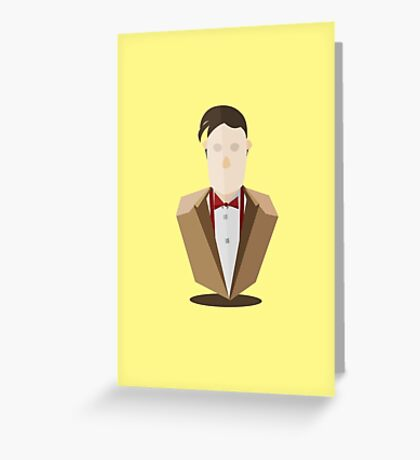 Eleventh Doctor - Yellow Greeting Card