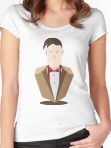 Eleventh Doctor - Yellow Women's Fitted Scoop T-Shirt