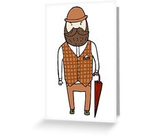 Gentleman with umbrella Greeting Card