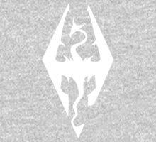 Skyrim Logo White One Piece - Short Sleeve