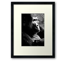 Big Guy Deep in Thought Framed Print