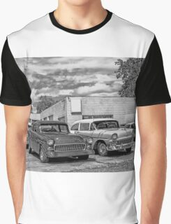 Old cars at the garage Graphic T-Shirt