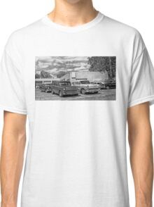 Old cars at the garage Classic T-Shirt