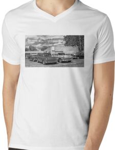Old cars at the garage Mens V-Neck T-Shirt