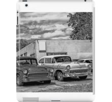 Old cars at the garage iPad Case/Skin