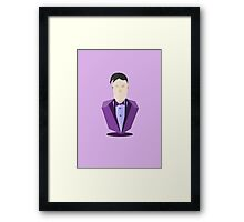 Eleventh Doctor - Purple Framed Print