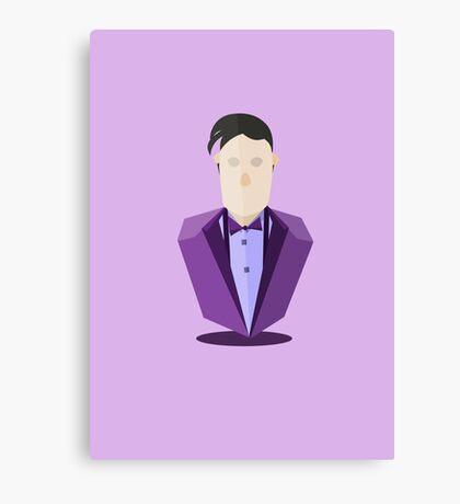 Eleventh Doctor - Purple Canvas Print
