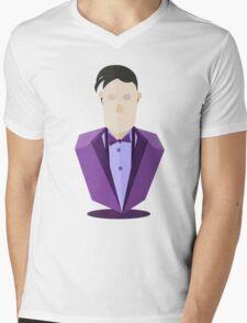 Eleventh Doctor - Purple Mens V-Neck T-Shirt