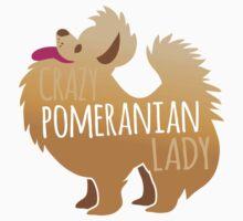 Crazy Pomeranian (Dog) Lady Kids Tee