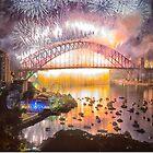 Sydney NYE Fireworks 2015 # 17 by Philip Johnson