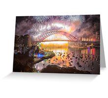 Sydney NYE Fireworks 2015 # 17 Greeting Card