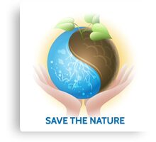 Save the Nature Theme Canvas Print