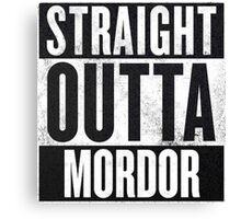 Straight Outta Mordor Canvas Print