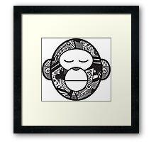 Decorative lucky monkey Framed Print