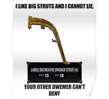 I like big struts and I cannot lie Poster