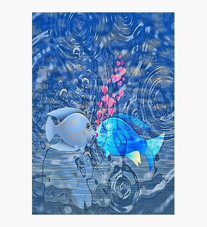 Fish In Love Photographic Print