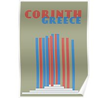Corinth Greece poster Poster