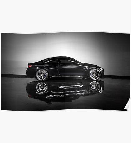 Stunning Black BMW M4 Poster