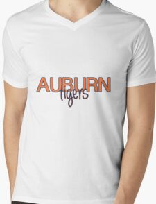 Auburn University Mens V-Neck T-Shirt