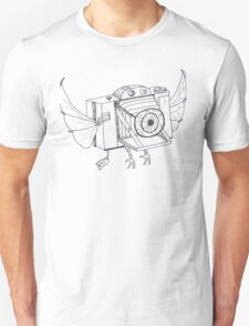 When Cameras Fly - (Hand drawn) Unisex T-Shirt