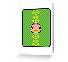 FRECKLES ANIMAL CROSSING Greeting Card
