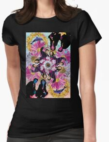 alien hunters from the flower planet Womens Fitted T-Shirt