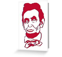 Abraham Lincoln Old Glory Greeting Card