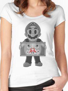 Super Mushroom Women's Fitted Scoop T-Shirt