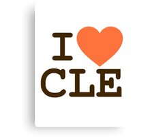 I HEART CLE - CLEVELAND Canvas Print