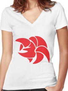 Jono logo Women's Fitted V-Neck T-Shirt