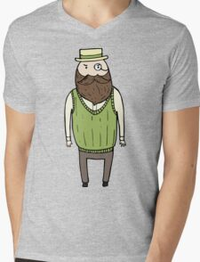 Gentleman with monocle Mens V-Neck T-Shirt