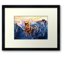 Will to live. Multi-color option Framed Print