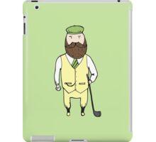Gentleman in golf club iPad Case/Skin